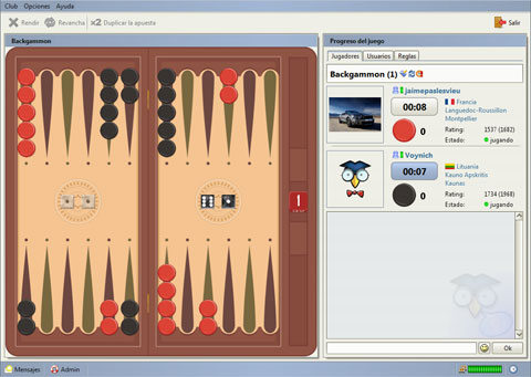 Jouer Backgammon